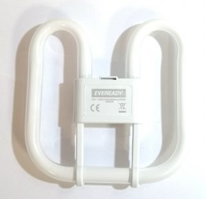 An energy saving fluorescent lamp with 2 pins and warm white colour tone