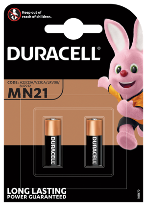 Twinpack of Duracell Batteries MN21