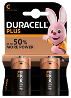 Duracell C Power Plus batteries Twin Pack