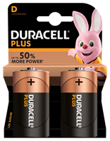 Duracell D Plus Power Alkaline Batteries Twin Pack