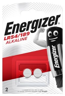 A pack of two, Energizer LR54, 189 alkaline batteries