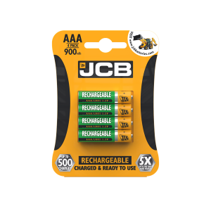 JCB AAA 900mAh Rechargeable batteries